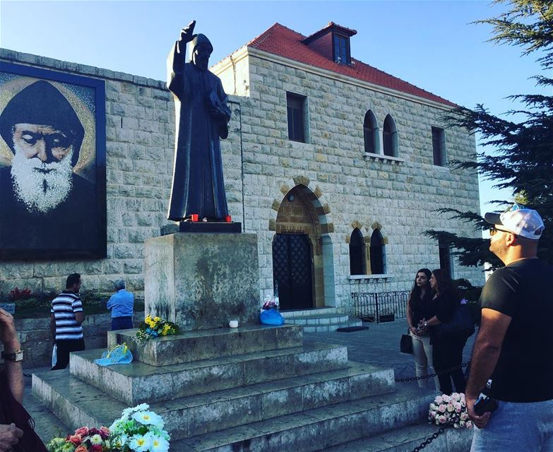 Praying for the world to heal / Saint Charbel 🌎🙏  saintcharbel  مار_شربل... (St. Charbel, Aannaya)